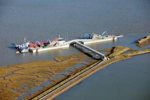 Wallasea Island unloading wharf